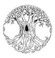 isolated scandinavian mythical tree vector image