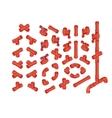 Isometric PVC Plumbing vector image vector image