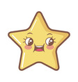 kawaii star funny cartoon character icon vector image vector image