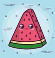 kawaii watermelon icon vector image vector image