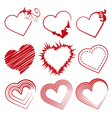Love set hearts Valentine day promotions vector image vector image