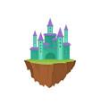 majestic building in retro style island castle vector image vector image