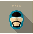 Mask flat Hero Villain superhero style icon vector image vector image