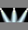 powersave lamp on black background vector image vector image