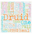 Role of The Druid WOW text background wordcloud vector image vector image