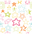 Seamless pattern with hand drawn stars Sketchy vector image vector image