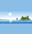 seascape with a small island vector image vector image