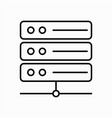 server icon with line style and white background vector image vector image