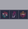 set abstract geometric t-shirt designs vector image vector image