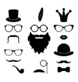 set hipster photosession accessories vector image