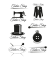 Set of black badges for tailor shops vector image