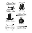 Set of black badges for tailor shops vector image vector image
