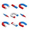 set of magnets in 3d vector image