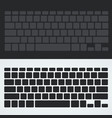 silhouette keyboard vector image