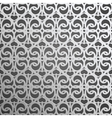 Silver geometric 3d seamless pattern vector image vector image