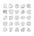 simple set of notifications line icons vector image