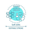 soft skills turquoise concept icon vector image vector image