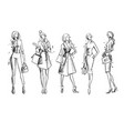 street look fashion sketch vector image
