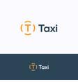 t taxi logo vector image vector image