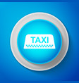 taxi car roof sign isolated on blue background vector image vector image