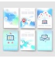 Templates Design Set of Web Mail Brochures vector image