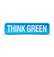 think green blue 3d realistic square isolated vector image vector image