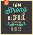 Typographic Quote Template Vintage Background vector image