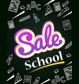 vertical banner sale back to school dynamic vector image