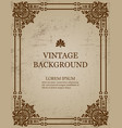 vintage old paper background with royal pattern vector image vector image