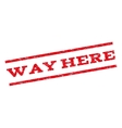 Way Here Watermark Stamp vector image vector image