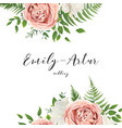 wedding invitation floral invite card with flowers vector image vector image