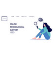 woman with mental health problems have online vector image vector image