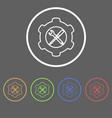 hardware repair icons vector image