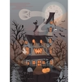 Halloween with scary house vector image