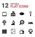 12 view icons vector image vector image