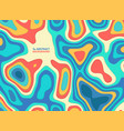 abstract paper cut colorful stripe line wavy vector image vector image