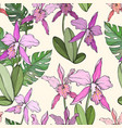 abstract vintage seamless floral pattern with vector image vector image