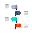 arrows for infographic template vector image