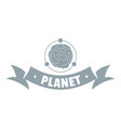asteroid logo simple gray style vector image vector image