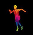 athlete runner a man runner running designed usi vector image vector image