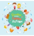 Autumn with happy kids vector image vector image