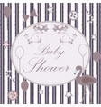 baby shower congratulations card vector image vector image