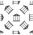 bank building isolated icon seamless pattern vector image