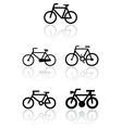 bike symbol set vector image vector image