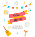 bright poster for festa junina vector image vector image