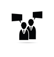 businessman icon silhouette vector image vector image