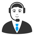 Call center operator flat icon vector image