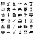 career icons set simple style vector image vector image
