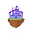 cartoon purple stone island castle in retro style vector image vector image