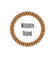 circle wooden frame of tree cross section logs vector image
